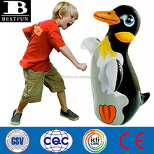 inflatable 3d bop bag penguin toys customized inflatable 3d balloons plastic inflatable water beach toys for kids