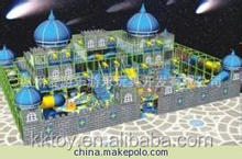PVC LLDPE plastic material indoor playground most the newest naughty castle