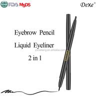 waterproof liquid eyeliner pen and eyebrow pencil 2 in 1