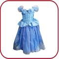 Hot vendas carnaval crianças tiara da princesa traje da princesa vestidos para crianças PGKC-2858