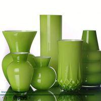 Sanzo Custom Glassware Manufacturer purple flower glass vase