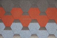 cheap hexagonal asphalt shingles roof