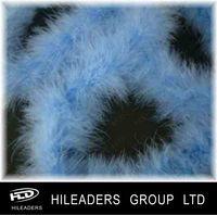 FH032 Decorative Dyed Blue Turkey Feather Marabou Boa