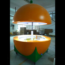 Mobile Outdoor Fruit/orange Juice Bar Kiosk Design