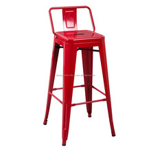 No floded and powder coated chair bar chair for red color