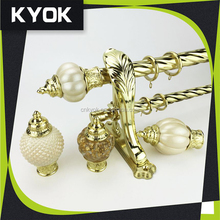 KYOK China made High quality window curtain rod wholesale, curtain rods wholesale,turkish brass curtain finials