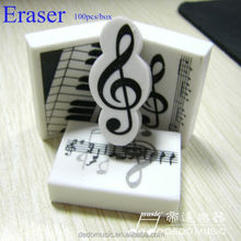 Fashion music stationery eraser hair remover