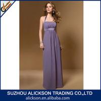 Dignified Halter Empire Waist Floor Length Chiffon Elegant Evening Summer Dresses
