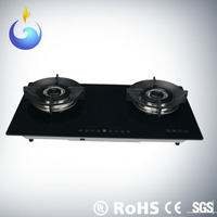 vogue design gas stove burner parts with glass top