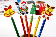 2015 NEW size 2*20 Wood Wooden Stationery Cartoon Christmas Pencil FT15898B
