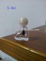 5.5ml heart shape clear empty nail polish glass bottle