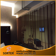 2015 new hot sale interior decoration architectural expanded wire mesh curtain for hotel/restaurant/office room divider