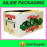 Cheap food paper carton box for fruit vegetable mango apple banana