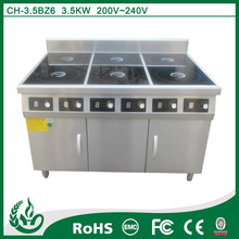 6 burner stainlees steel 3500W commercial electric ranges