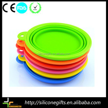 Custom color silicone collapsible pet bowl dog bow pet water bowl