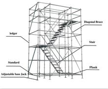 ระบบนั่งร้านบันได/นั่งร้านก่อสร้าง/นั่งร้านอุปกรณ์