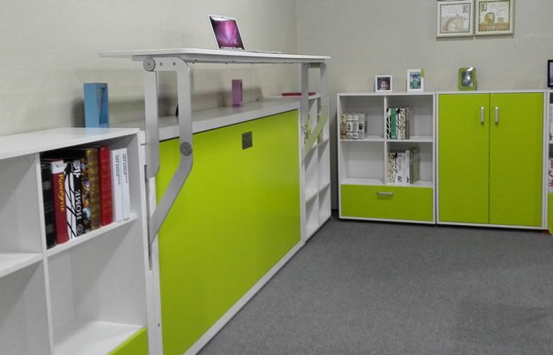 현대 아이 머피 침대 디자인 풀다운 단일 벽 침대 책상-침대 ...