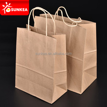 Kraft Paper Retail Shopping Bags with Rope Handles