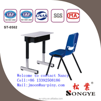 Wooden Classroom Desk for Student,Chrome Metal Legs Desk
