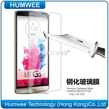 Anti-Bubble High Definition Glass Clear Screen Protector For LG G3 With Real Touch Sensitivity