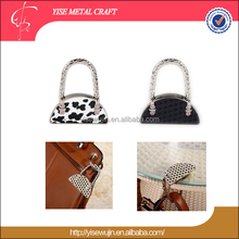 Semicircle 4 Pink Crystal Folding Handbag Purse Bag Accessories Decoration Ornament For Girls Women Ladies