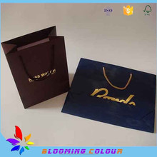 Customized Handmade Recycle Luxury Promotional Shopping Paper Bag with ribbion handle