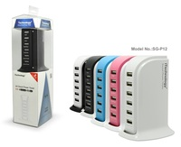 NEWEST!8A charging station built in Smart IC Multi usb ports perfect phone charger with FCC/CE approval
