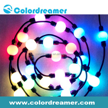 40mm 3D effect led round ball outdoor light pixel driver compatible