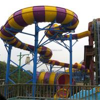 interactive race slide fiberglass water slide