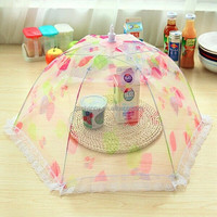 Wholesale Kitchen Food Cover BBQ Cooking Tools Strawberry Spot For Mesh Protection- Fruit Vegetable Umbrella Shaped