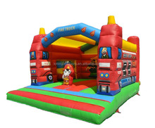 Digital Printing Inflatable Bouncer for Sale Inflatable Fire Truck Jumper for kids