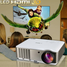 Native 1080p full hd 3d led projector,movie theater proyector 3 lcd display video projector low noise with HDMI/USB TV tuner