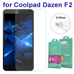 0.33mm Tempered Glass Screen Protector with Design for Coolpad Dazen F2