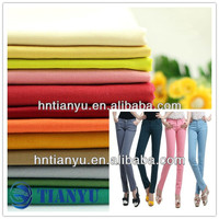 100% cotton twill fashion fabric for ladies pants garment