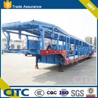 China transport car semi truck trailer CITC 10 cars transport capacity with high quality tyres for sale
