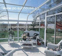 Polycarbonate plastic sunroom