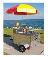gas hot dog cart YS-HD100/hot dog carts food car/food carts
