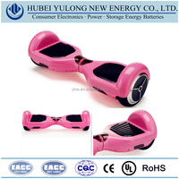 Pink 2 wheel smart chargeable electric scooter self balancing scooter