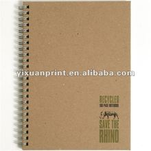 customized brown kraft cover notebook paper spiral notebooks