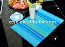 stripe pvc waterproof placemats