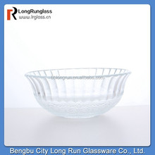 LongRun glass factory heat resistant clear glass bowl in China