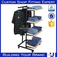 OEM/ODM metal hanging clothes display racks for man clothing cabinet