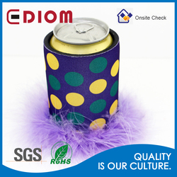 Christmas Top recommended Cheap Sublimation imprinted neoprene fluffy Custom blank stubby cooler