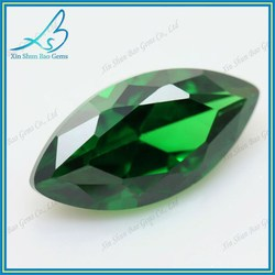 3*6mm Factory price marquise cut green semi precious stone