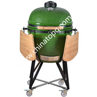 TOPQ Grills Type and Steel Metal Type Football Shape Charcoal BBQ