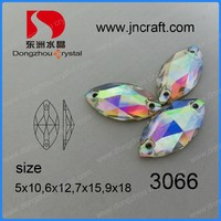 Horse Eye Crystal AB Color Glass Sew on Stones for Clothing Accessories