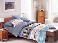 Checked printed bedding set