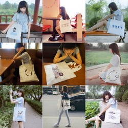 Original theatrical fashion free style canvas bags shopping bags women canvas printing tote bag