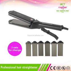 Portable LED Hair Straightener Iron For Hairdresser Use