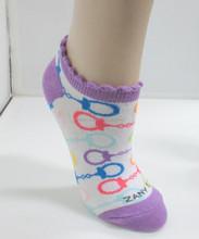 fancy colorful custom cheap crew socks in ruffle cuff